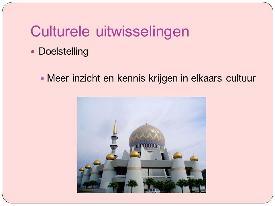Culturele uitwisselingen