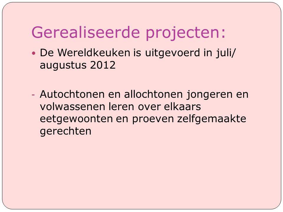 Gerealiseerde projecten: