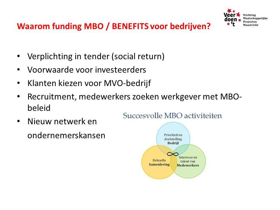 Waarom funding MBO / BENEFITS voor bedrijven