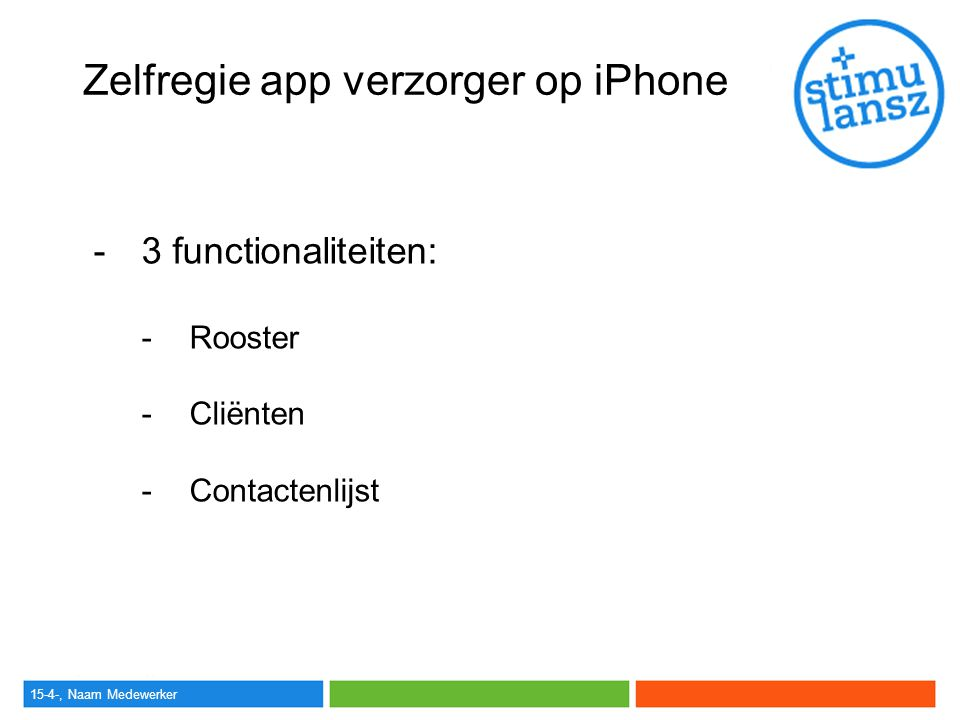 Zelfregie app verzorger op iPhone