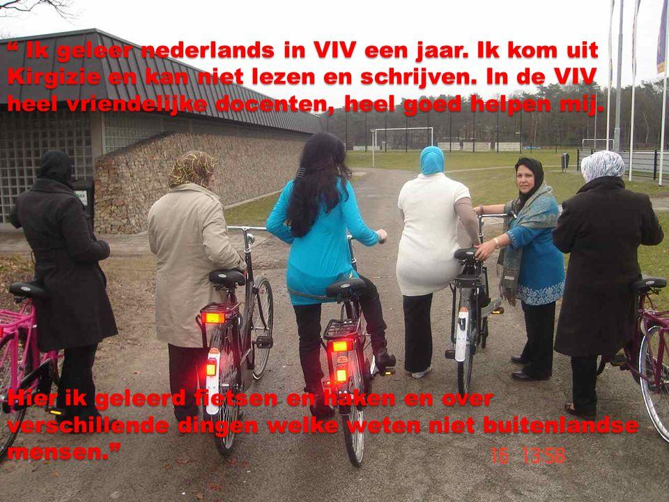 Ik geleer nederlands in VIV een jaar