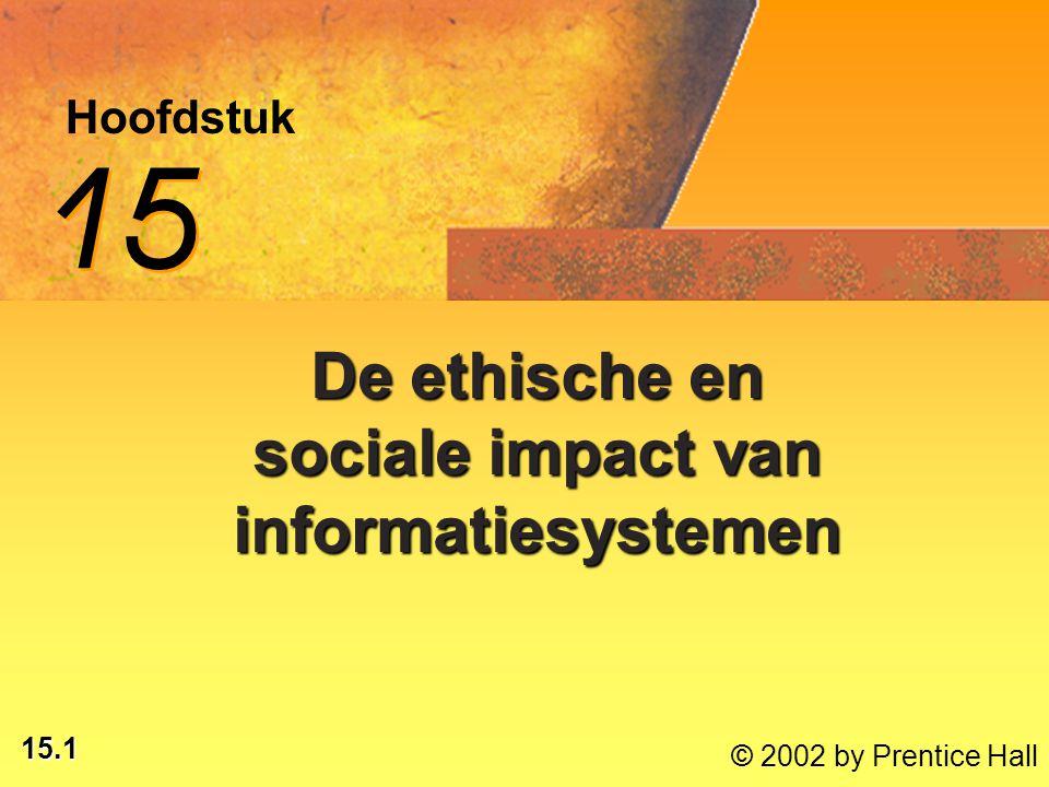 De ethische en sociale impact van informatiesystemen