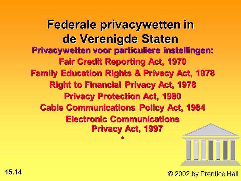 Federale privacywetten in de Verenigde Staten