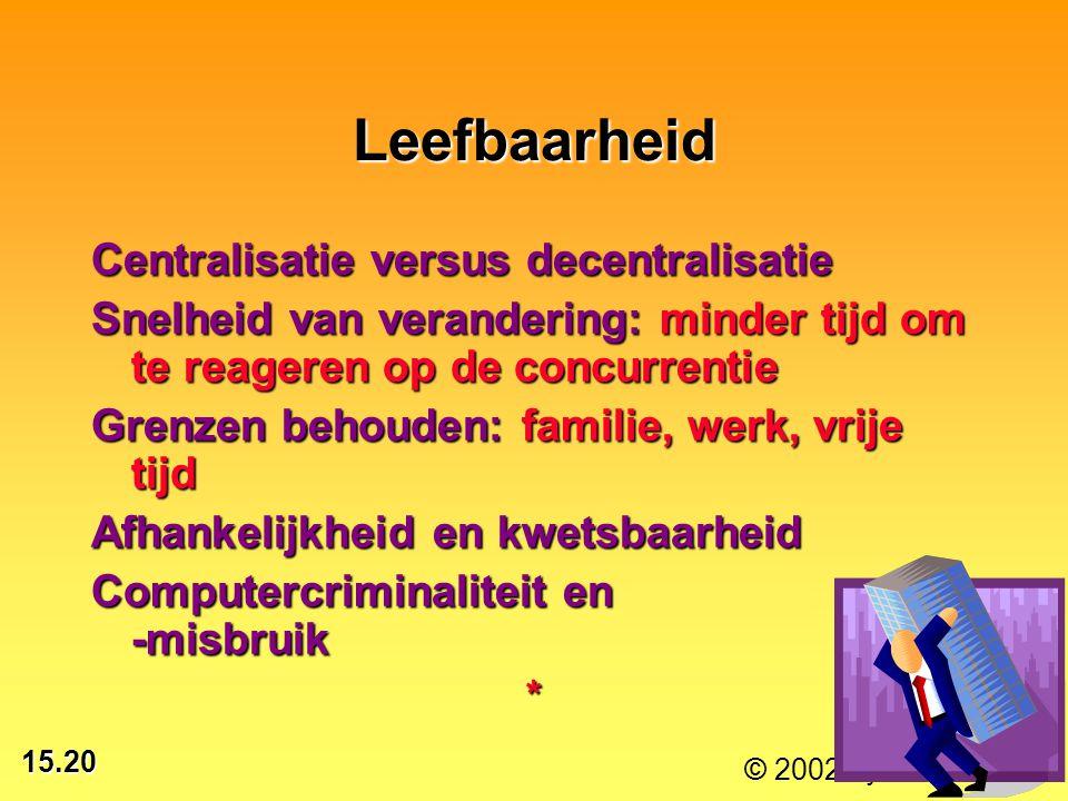 Leefbaarheid Centralisatie versus decentralisatie