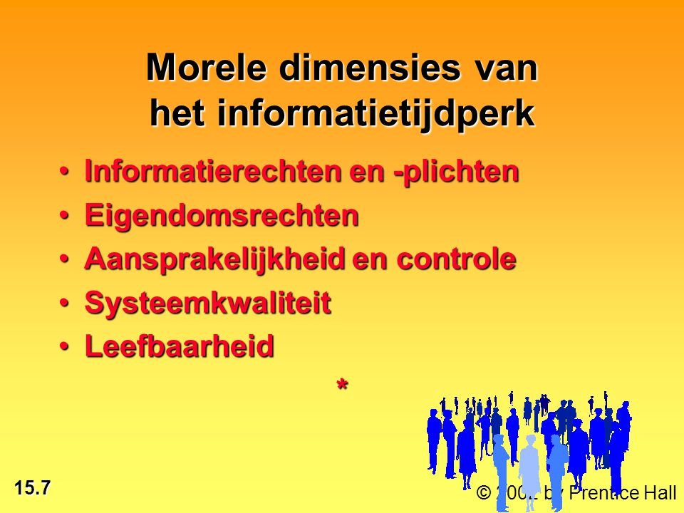 Morele dimensies van het informatietijdperk