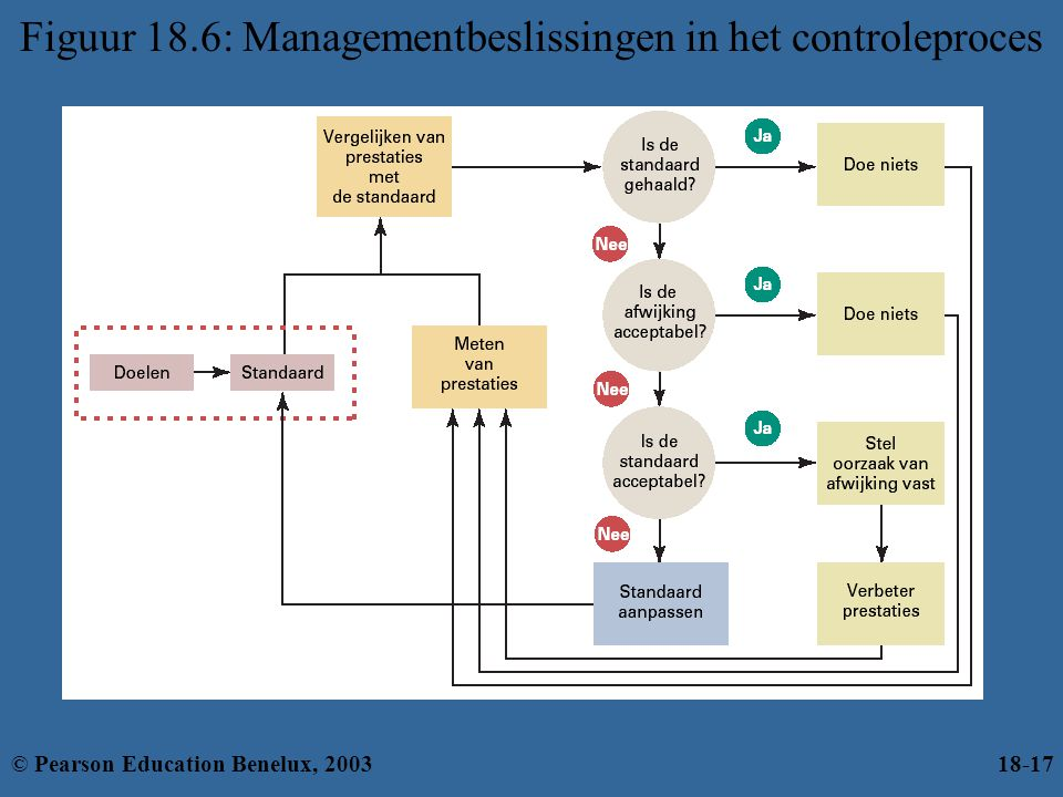 Figuur 18.6: Managementbeslissingen in het controleproces
