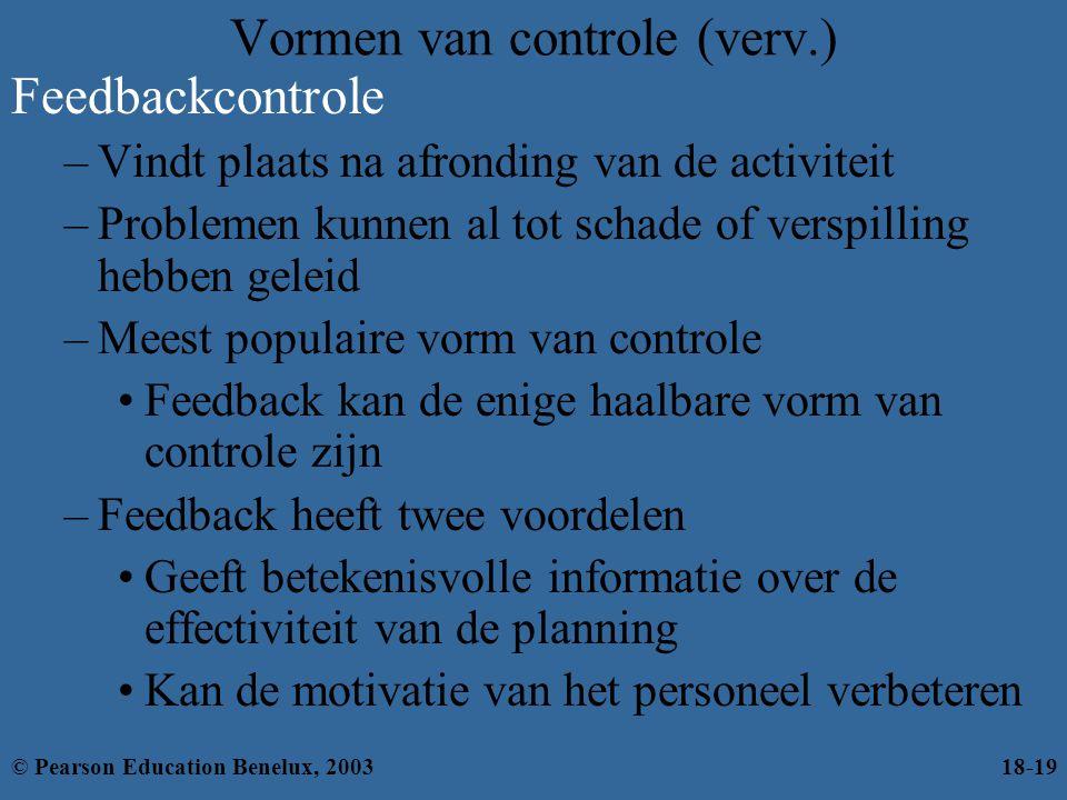 Vormen van controle (verv.)