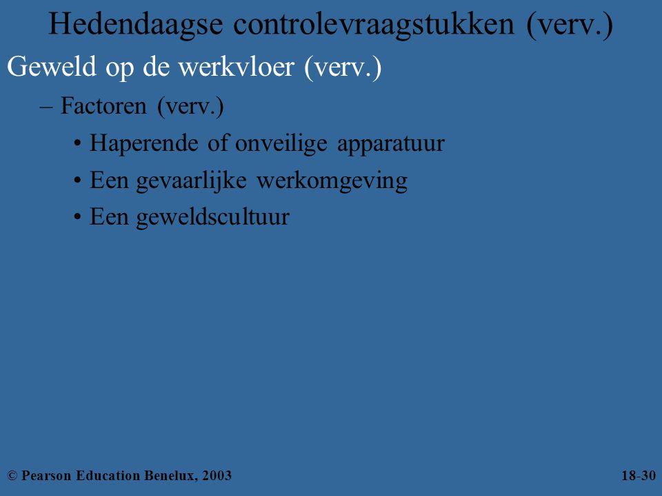 Hedendaagse controlevraagstukken (verv.)