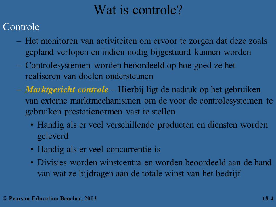 Wat is controle Controle