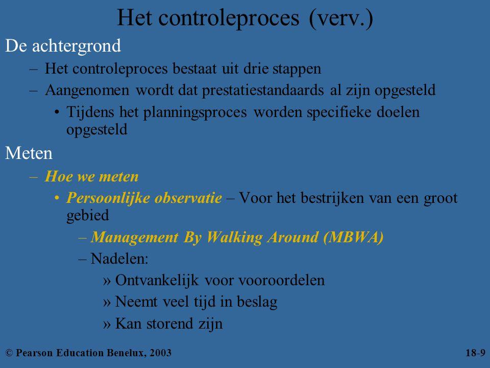 Het controleproces (verv.)