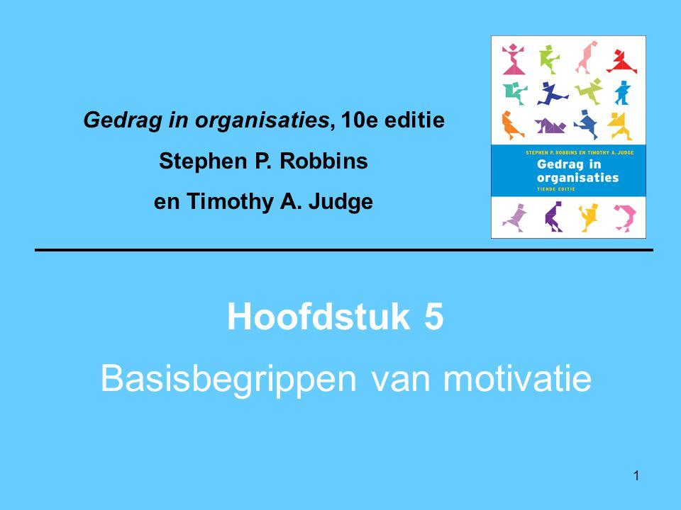 Basisbegrippen van motivatie