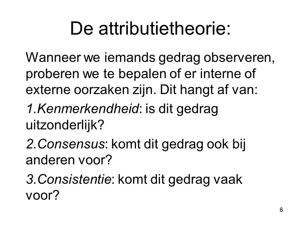 De attributietheorie: