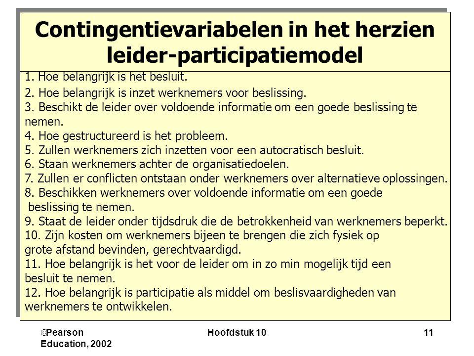 Contingentievariabelen in het herzien leider-participatiemodel