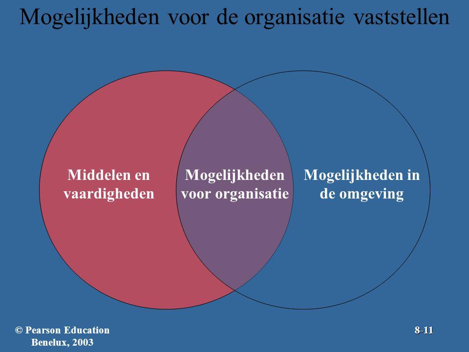 Mogelijkheden voor de organisatie vaststellen