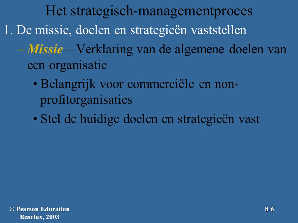 Het strategisch-managementproces