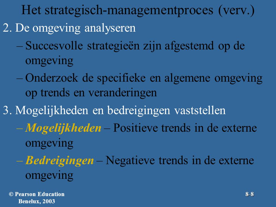 Het strategisch-managementproces (verv.)