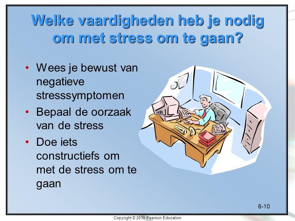 Welke vaardigheden heb je nodig om met stress om te gaan