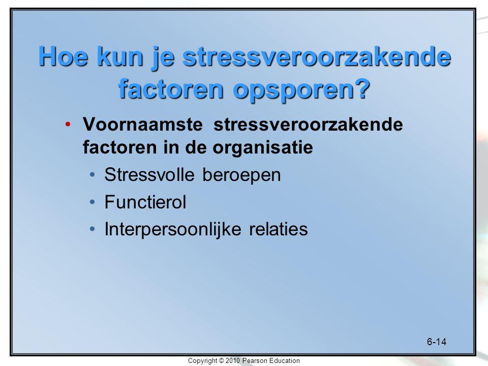 Hoe kun je stressveroorzakende factoren opsporen