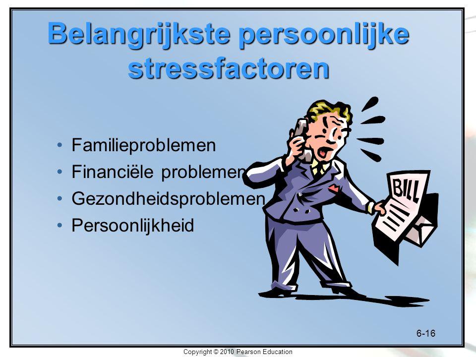 Belangrijkste persoonlijke stressfactoren
