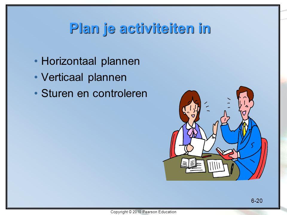 Plan je activiteiten in