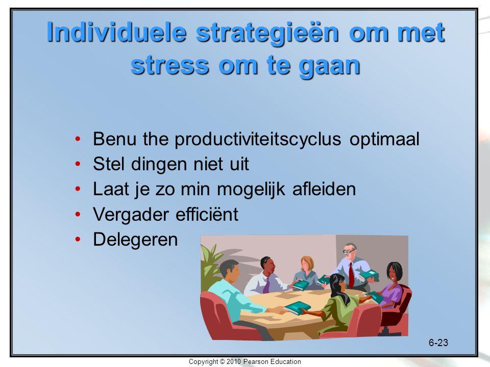 Individuele strategieën om met stress om te gaan