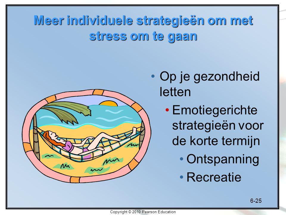 Meer individuele strategieën om met stress om te gaan