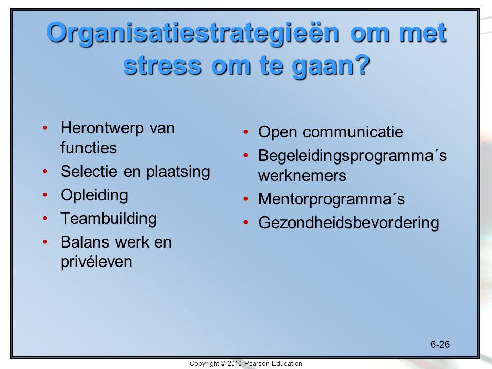 Organisatiestrategieën om met stress om te gaan