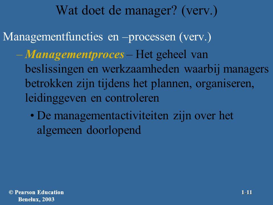 Wat doet de manager (verv.)