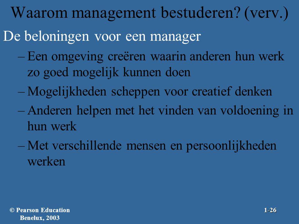 Waarom management bestuderen (verv.)
