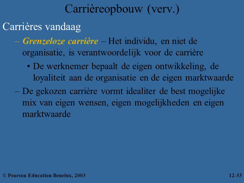 Carrièreopbouw (verv.)
