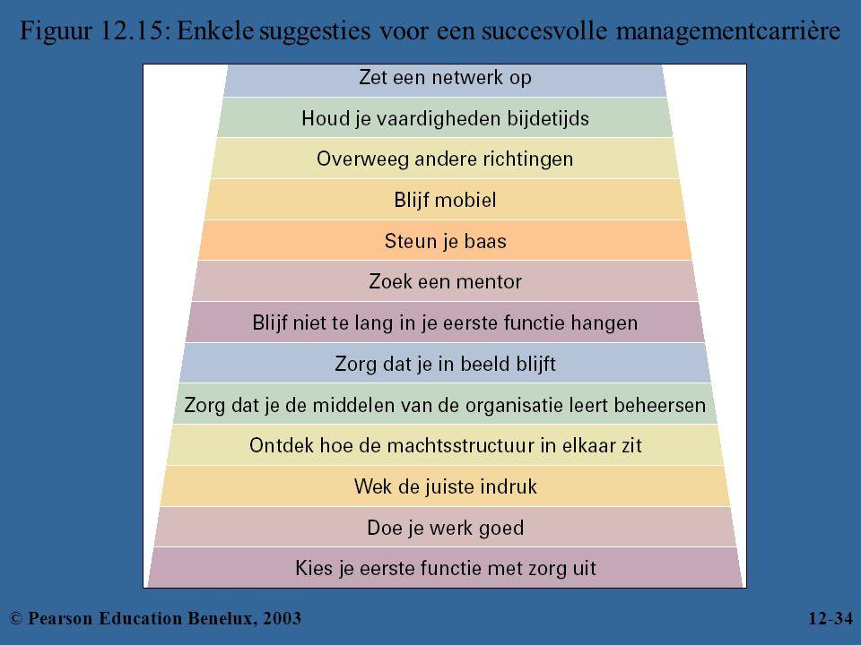 Figuur 12.15: Enkele suggesties voor een succesvolle managementcarrière