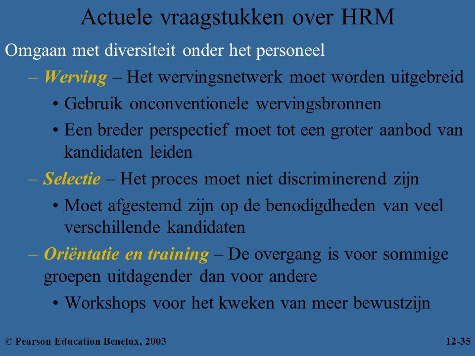 Actuele vraagstukken over HRM