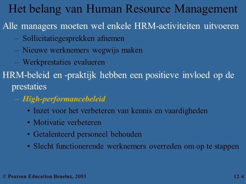 Het belang van Human Resource Management
