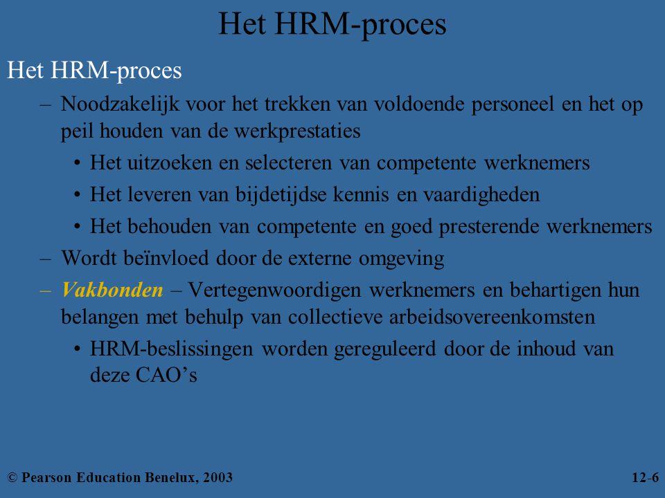 Het HRM-proces Het HRM-proces
