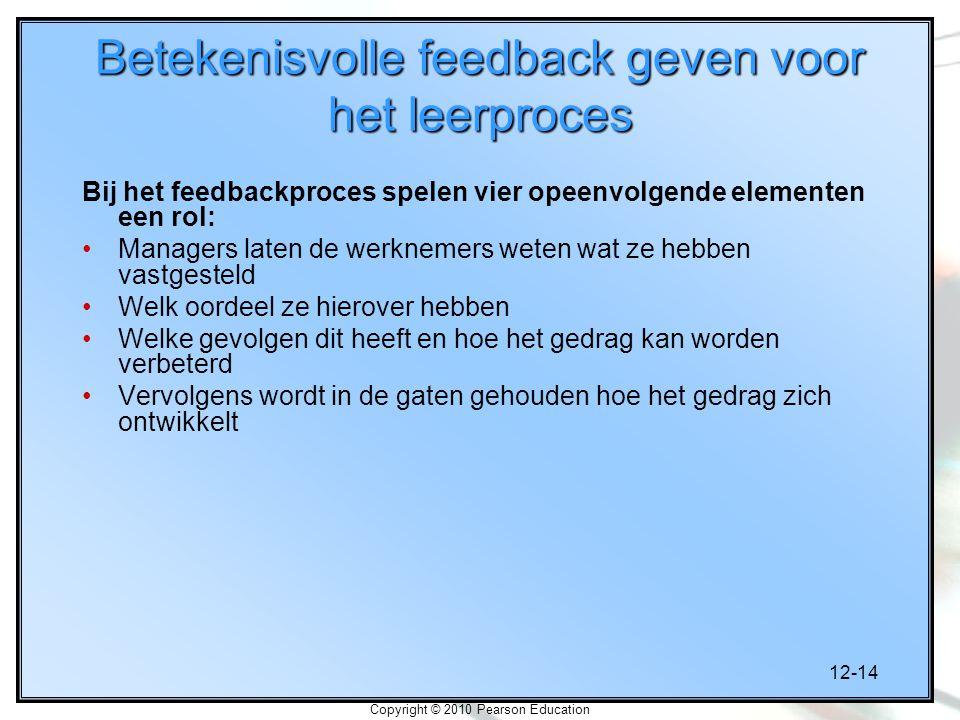 Betekenisvolle feedback geven voor het leerproces
