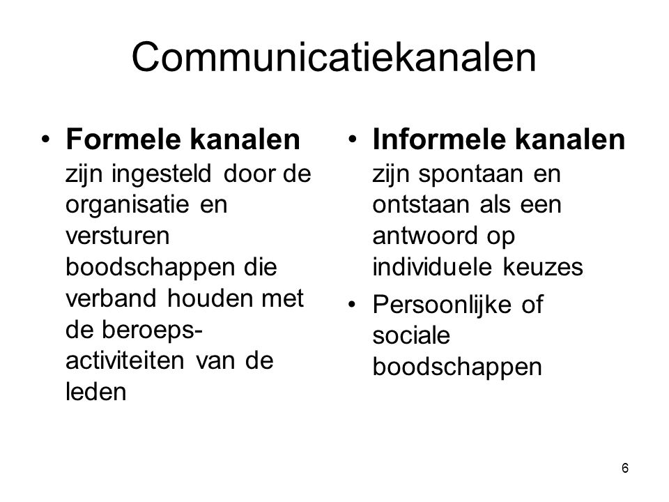 Communicatiekanalen