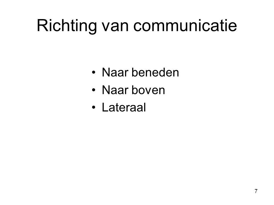 Richting van communicatie