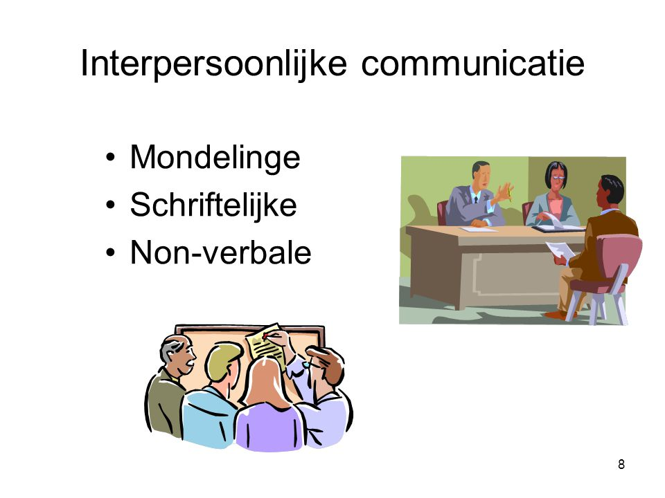 Interpersoonlijke communicatie