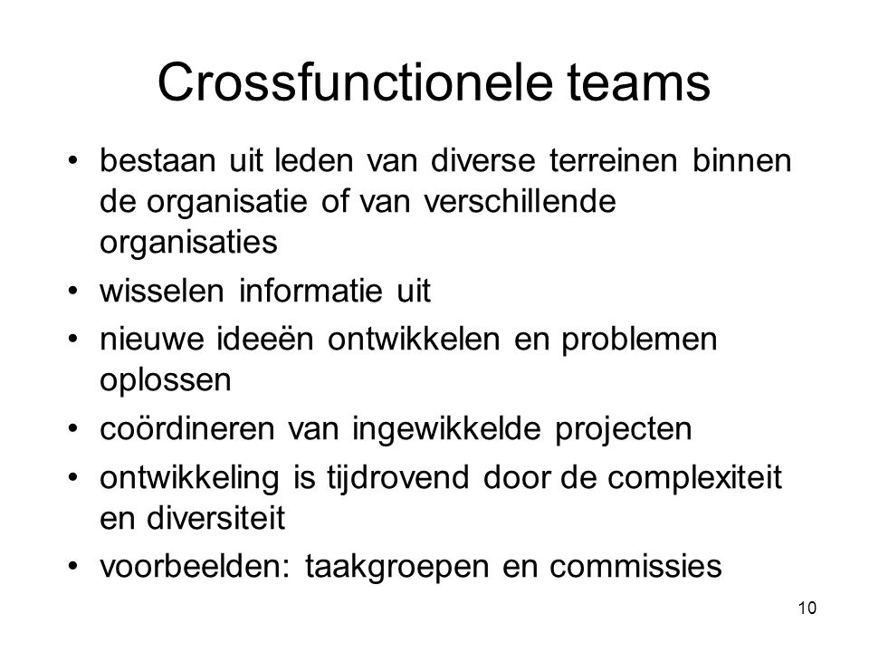 Crossfunctionele teams