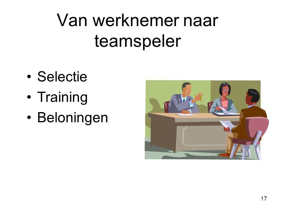 Van werknemer naar teamspeler