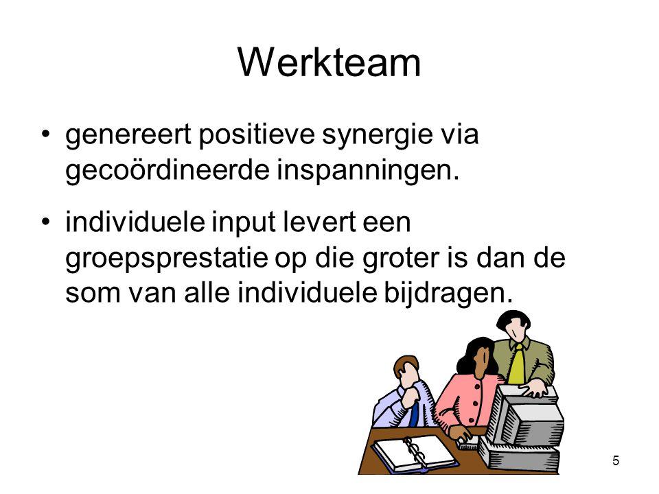 Werkteam genereert positieve synergie via gecoördineerde inspanningen.