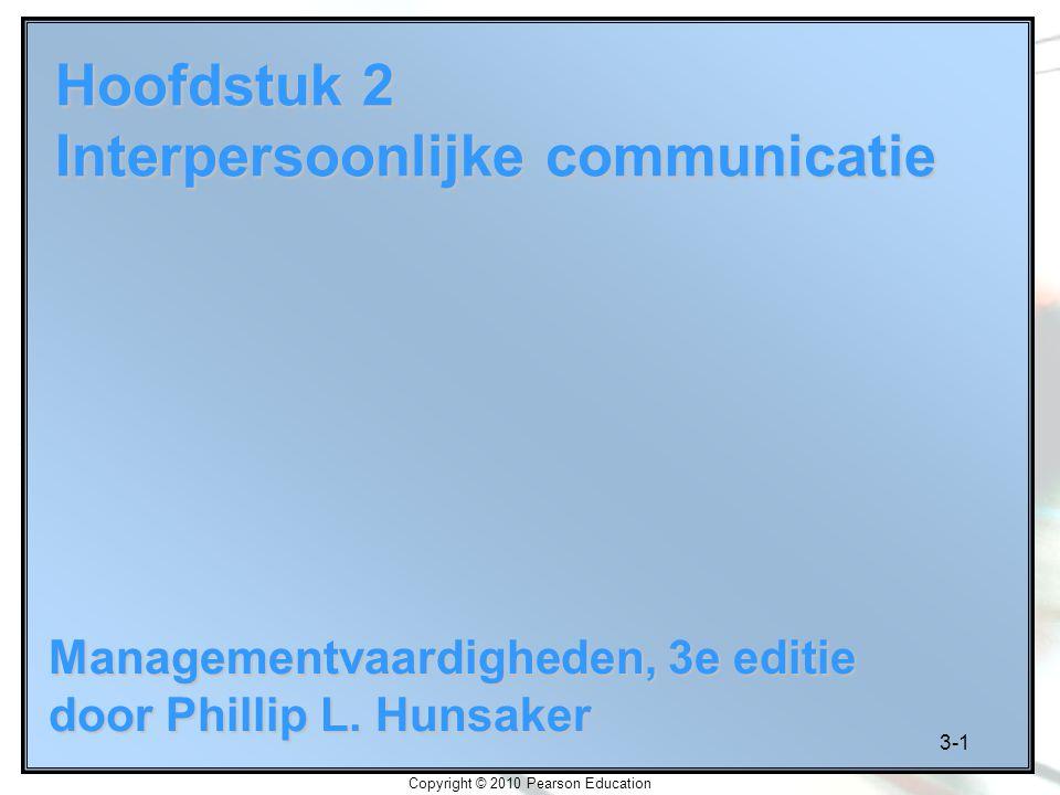Hoofdstuk 2 Interpersoonlijke communicatie