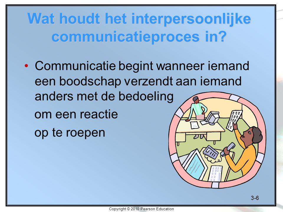 Wat houdt het interpersoonlijke communicatieproces in