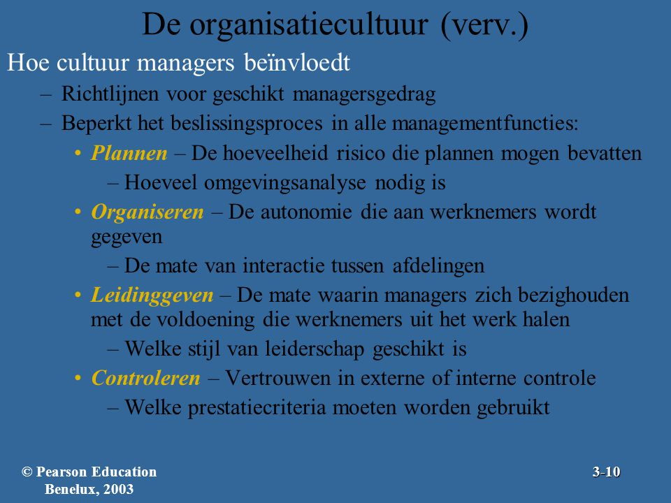 De organisatiecultuur (verv.)