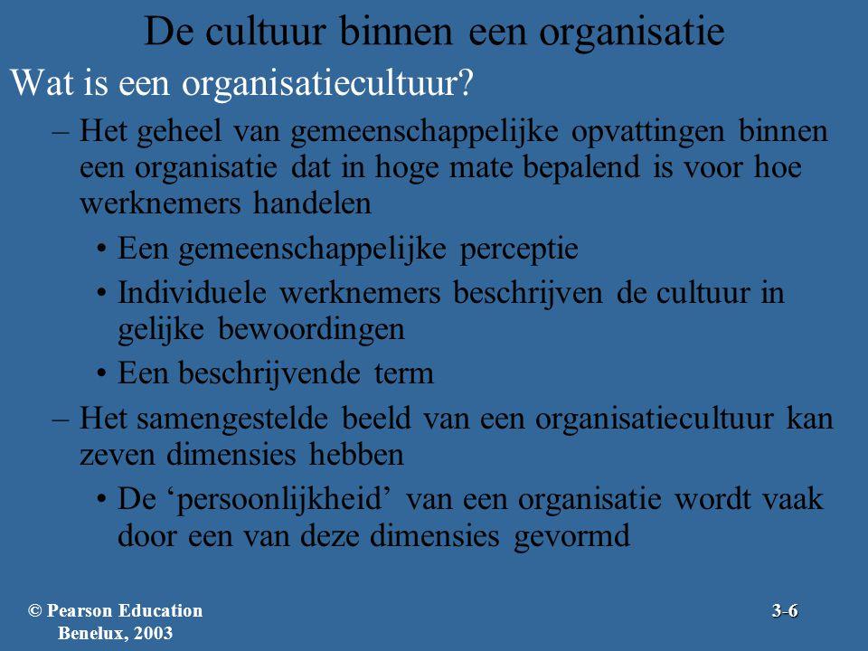 De cultuur binnen een organisatie