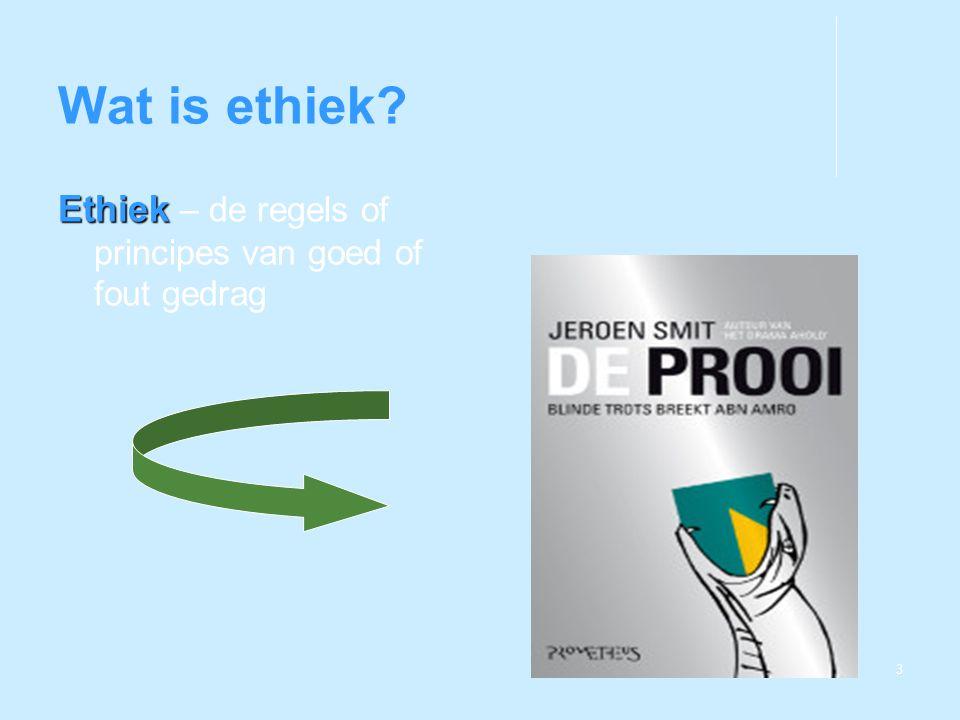 Wat is ethiek Ethiek – de regels of principes van goed of fout gedrag