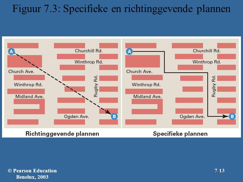 Figuur 7.3: Specifieke en richtinggevende plannen