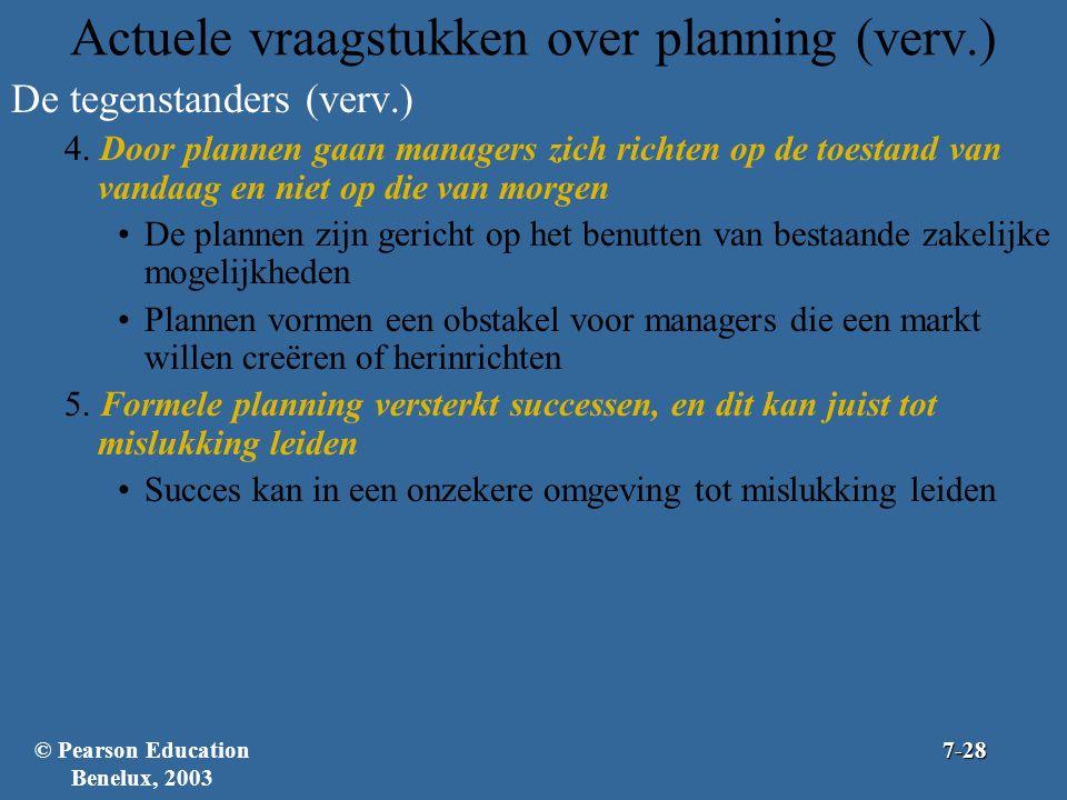 Actuele vraagstukken over planning (verv.)