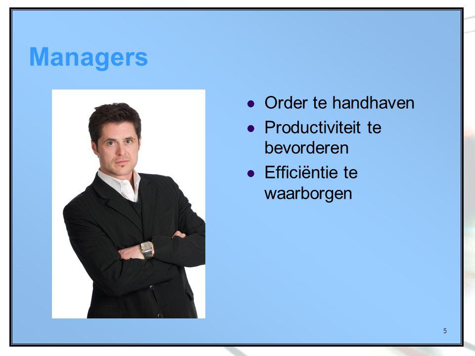 Managers Order te handhaven Productiviteit te bevorderen