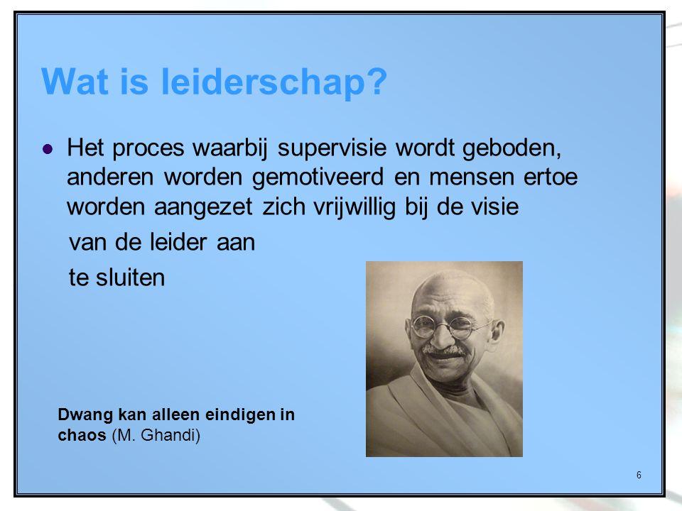 Wat is leiderschap
